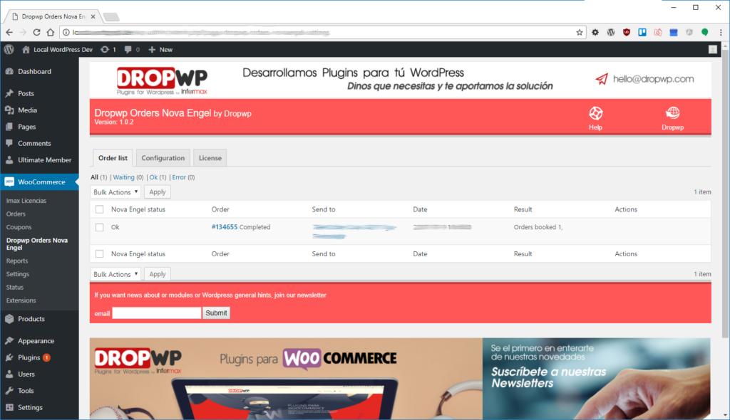 Dropwp Orders NovaEngel